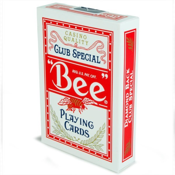 Bee playing card (Red)