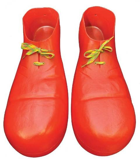 Clown plastic shoes